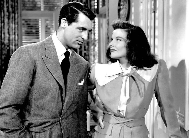 Cary Grant & Katherine Hepburn in The Philadelphia Story