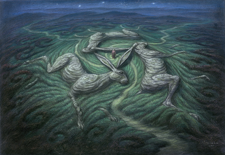 Three Hares Tor by Virginia Lee