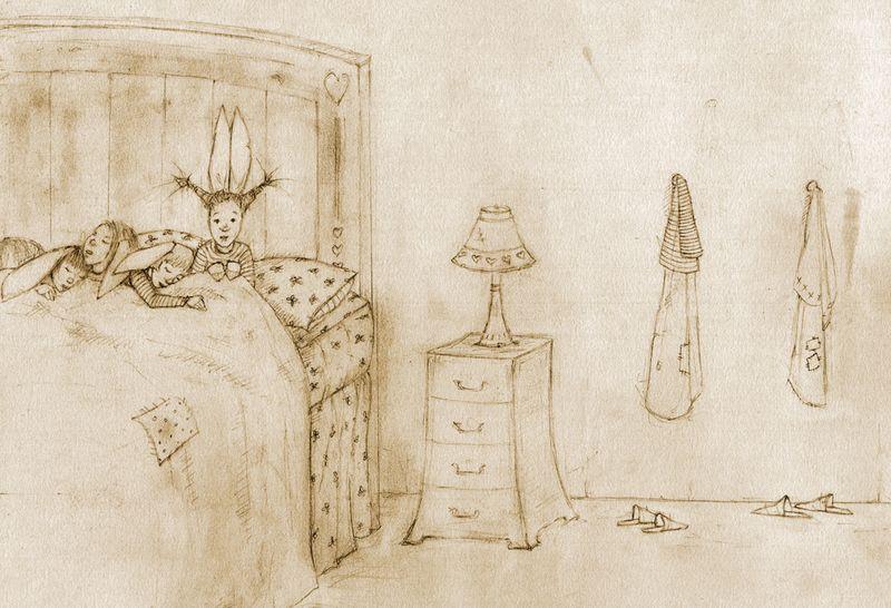Bunny sketch by Terri Windling