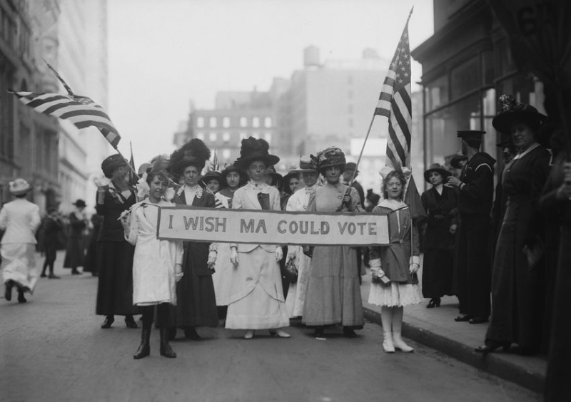 Suffrage march, 1913
