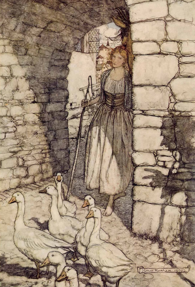 The Goose Girl by Arthur Rackham