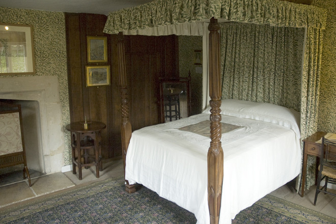 The Willow Bedroom at Kelmscott Manor