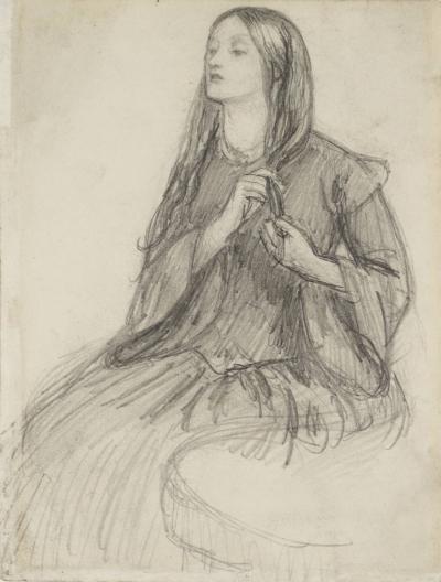 A drawing of Lizzie Siddal by Dante Gabriel Rossetti