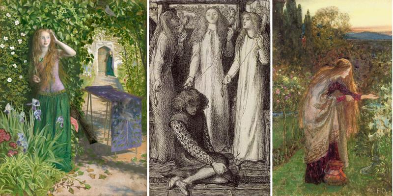 Arthur Huges, Dante Gabriel Rossetti, John Dicksee