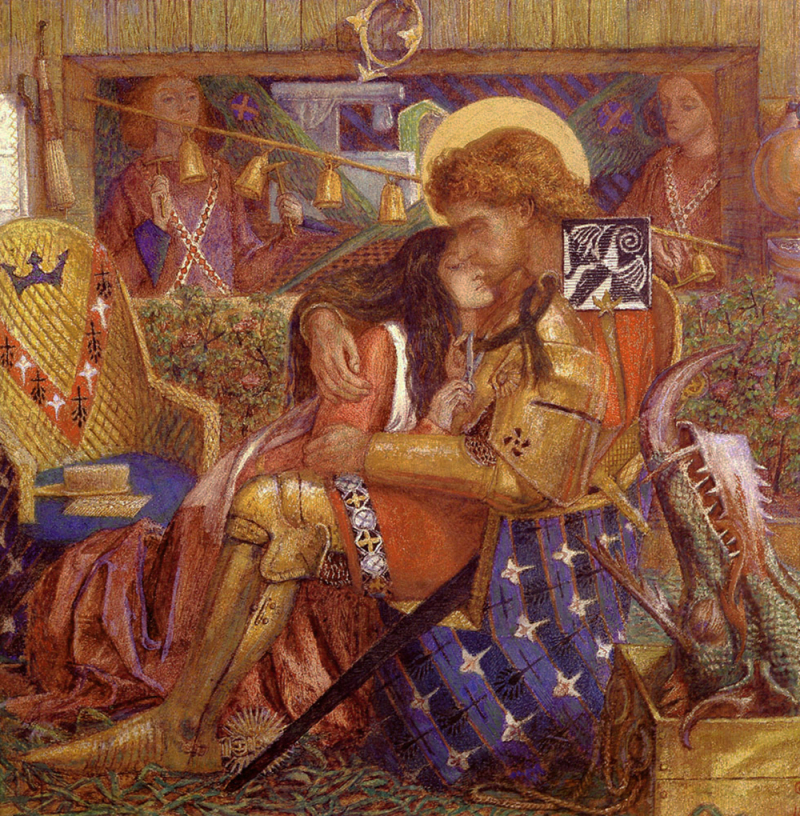 The Wedding of Saint George and Princess Sabra by Dante Gabriel Rossetti