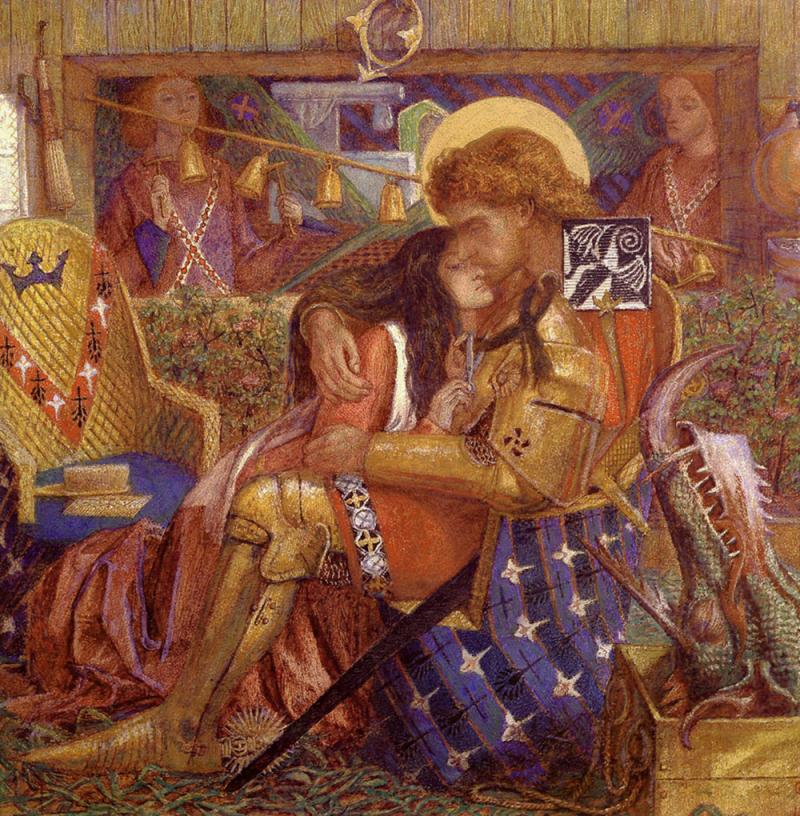 The Wedding of Saint George and Princess Sabra by Dante Gabriel Rossetti