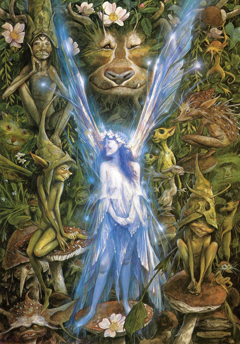 The Faery Who Was Kissed by the Piskies by Brian Froud