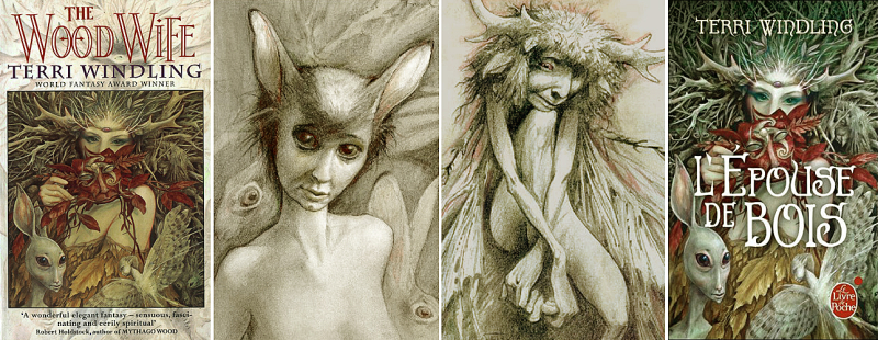Brian Froud's art for The Wood Wife by Terri Windling