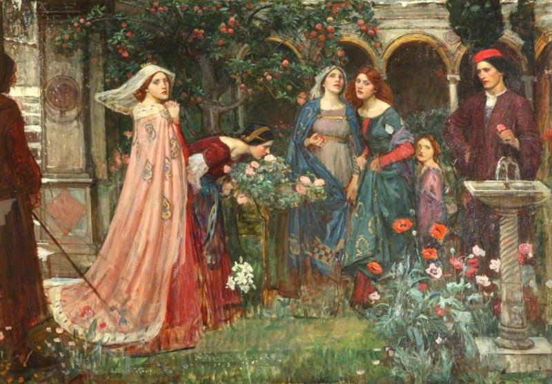 The Enchanted Garden by John William Waterhouse