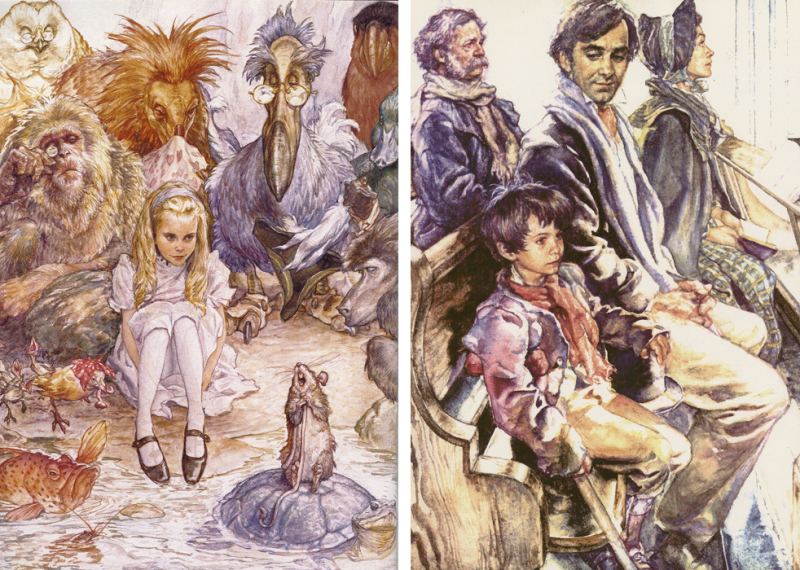 Alice in Wonderland & A Christmas Carol illustrated by Iain McCaig
