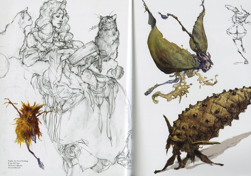Sorcerer's Apprentice sketches by Iain McCaig
