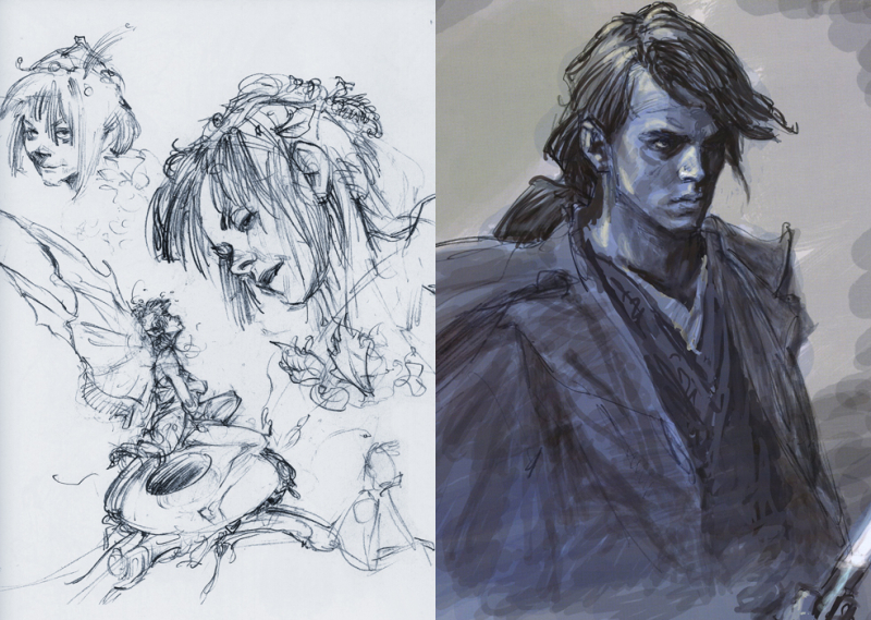 Sketches for Peter Pan & Star Wars