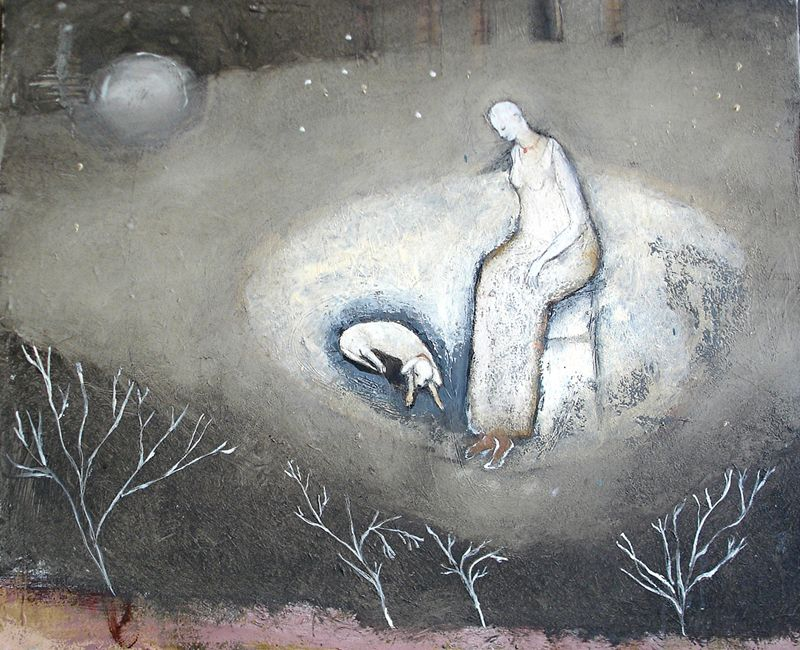 Old Dog's Dream by Jeanie Tomanek