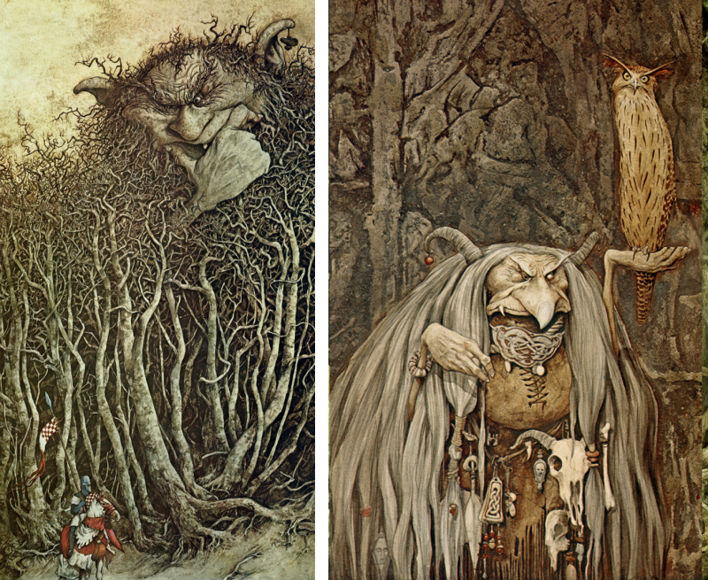 Two paintings from ''The Land of Froud''