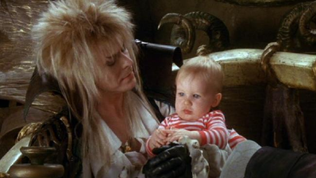 David Bowie & Toby Froud in Labyrinth