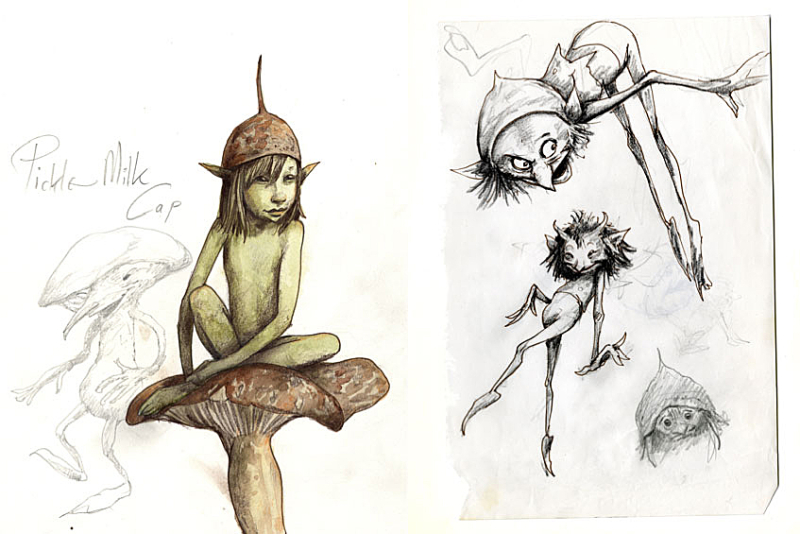 Faery sketches by Brian Froud