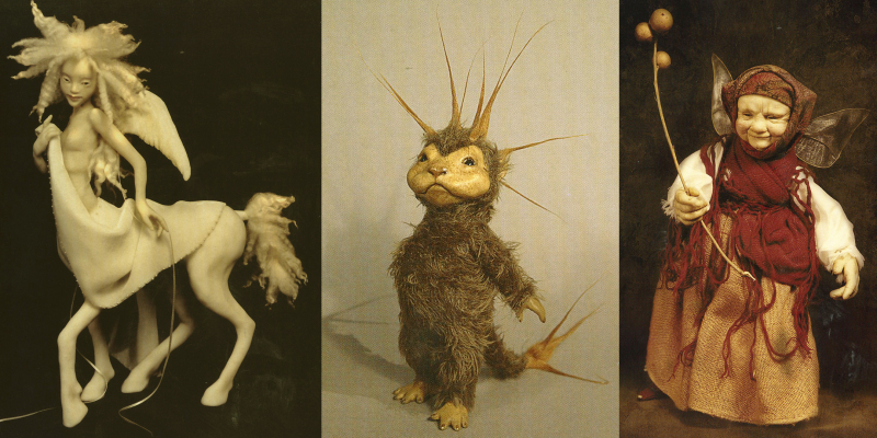 Three sculptures by Wendy Froud