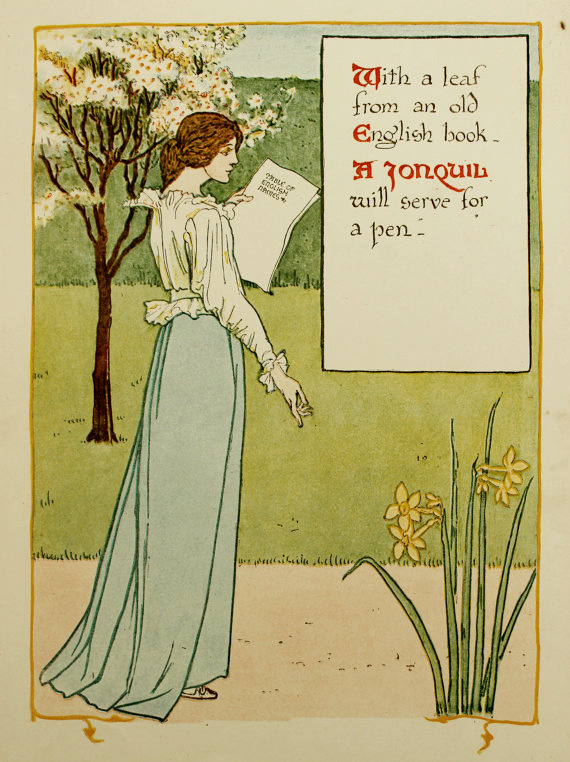 Jonquil by Walter Crane