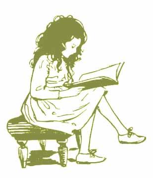 Heidi Reading by Jessie Wilcox Smith