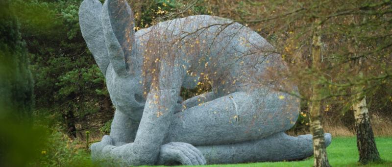 Kneeling Hare by Sophie Ryder