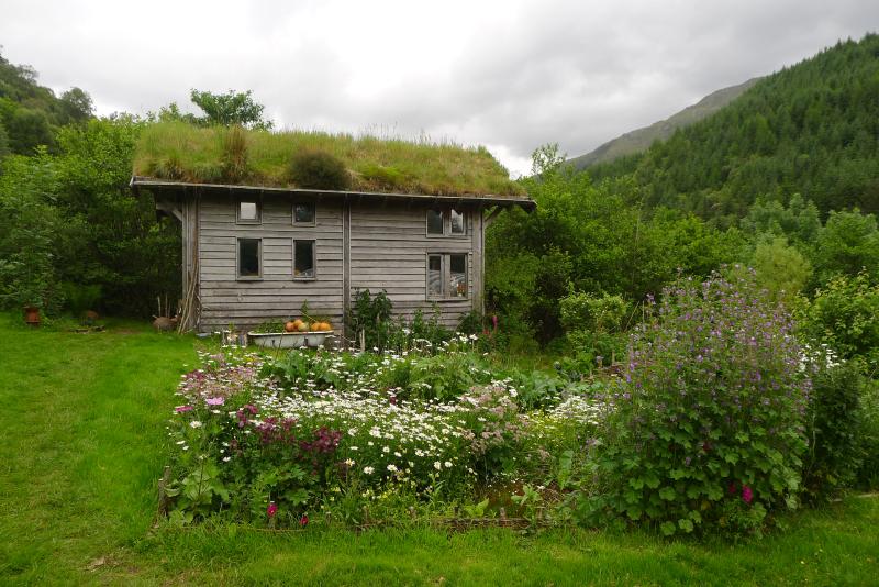Corrary Farm  turf-roofed office