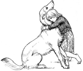 An illustration from More Celtic Fairy Tales by John D. Batten
