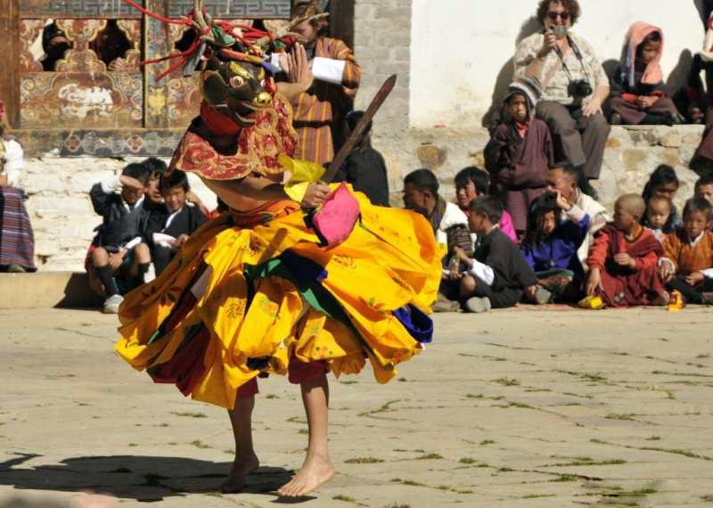 Deer dancer at the Crane Festival in Bhutan 2