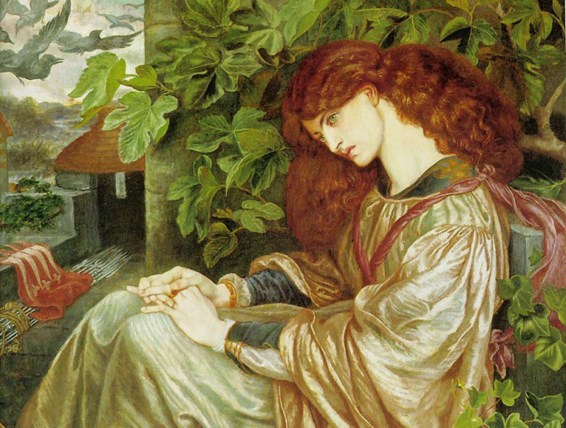 La Pia de' Tolomei (from Dante's Purgatorio) by Dante Gabriel Rossetti.  The model is Jane Morris