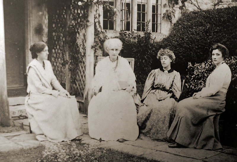 May, Jane, and Jenny Morris,with Jenny's nurse