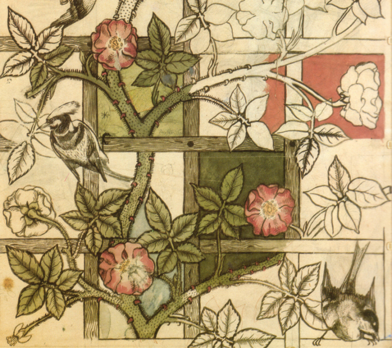 William Morris' ''Bird and Trellis'' design in progress