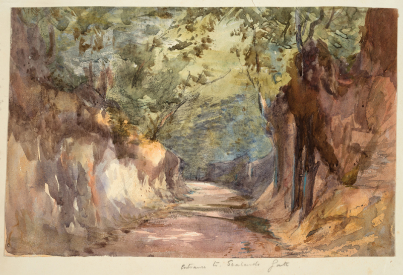 Entrance to Scalands by Barbara Smith Bodichon (Scalands was the artist's home in Sussex)
