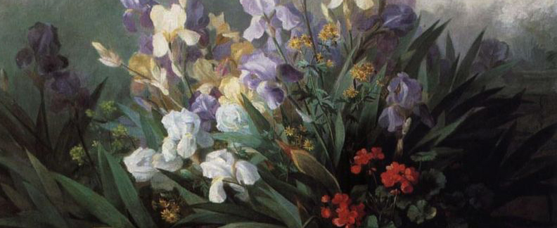 Detail from Landscape with Iris by Barbara Leigh Smith Bodichon