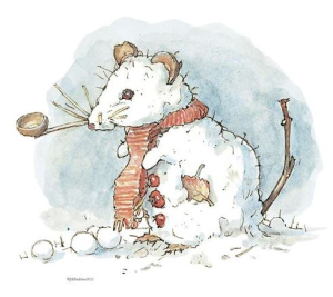 Branbley Hedge snow mouse by Jill Barklem