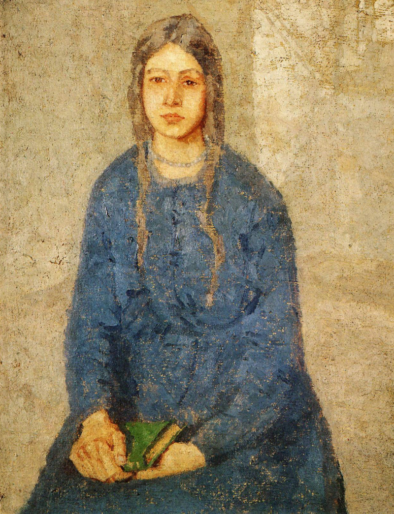 Girl Holding a Book by Gwen John