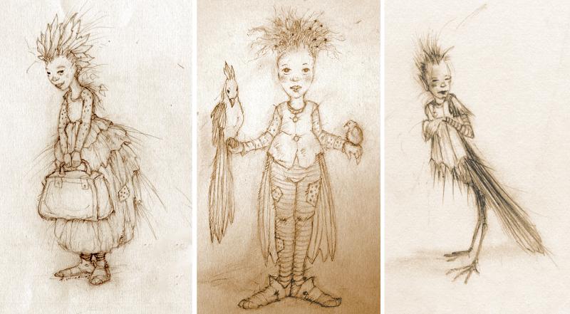 Bird Children from my sketchbooks 2