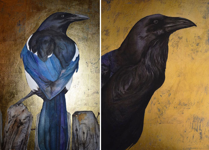 Magpie and Raven by Jackie Morris
