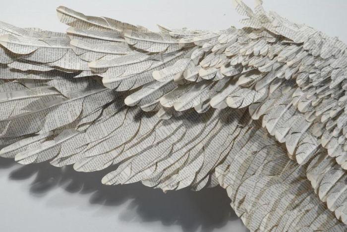 Detail from a sculpture by Susan Hannon