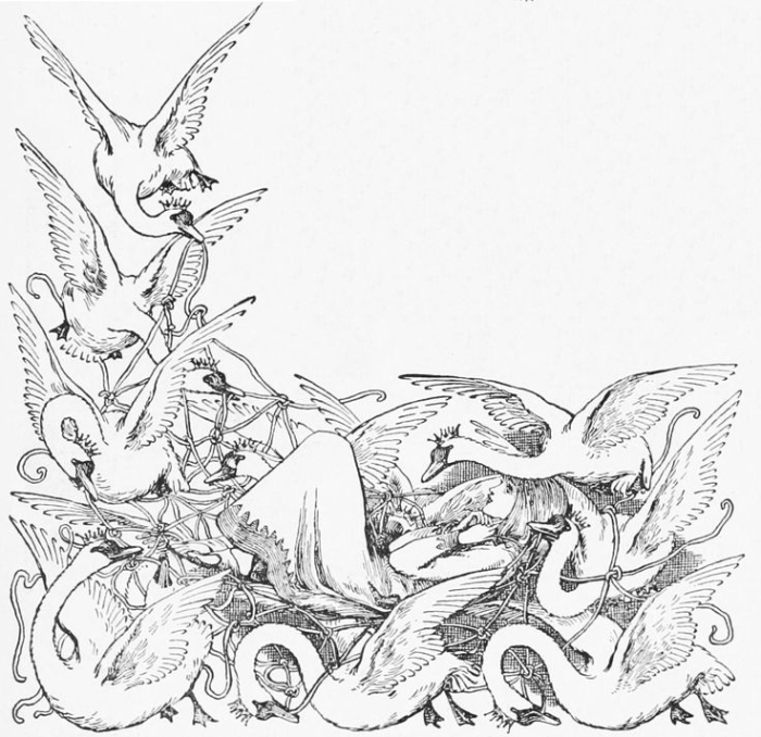Illustration for The Wild Swans by Helen Stratton