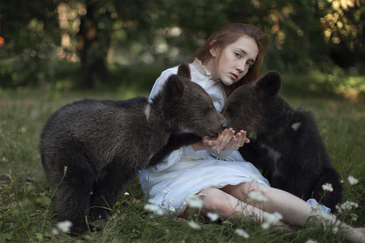 Child with Bears by Katerina Plotnikova