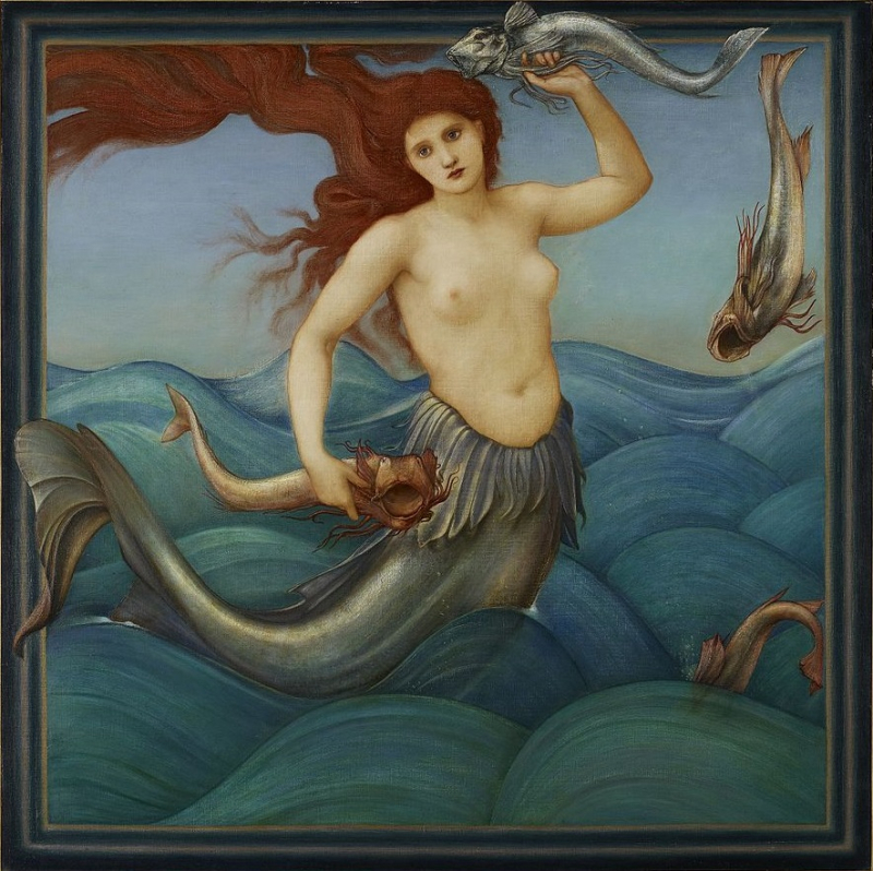 Sea Nymph by Edward Burne-Jones