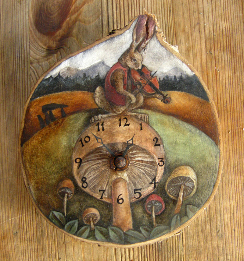 The Hare Mycomusicologist Clock