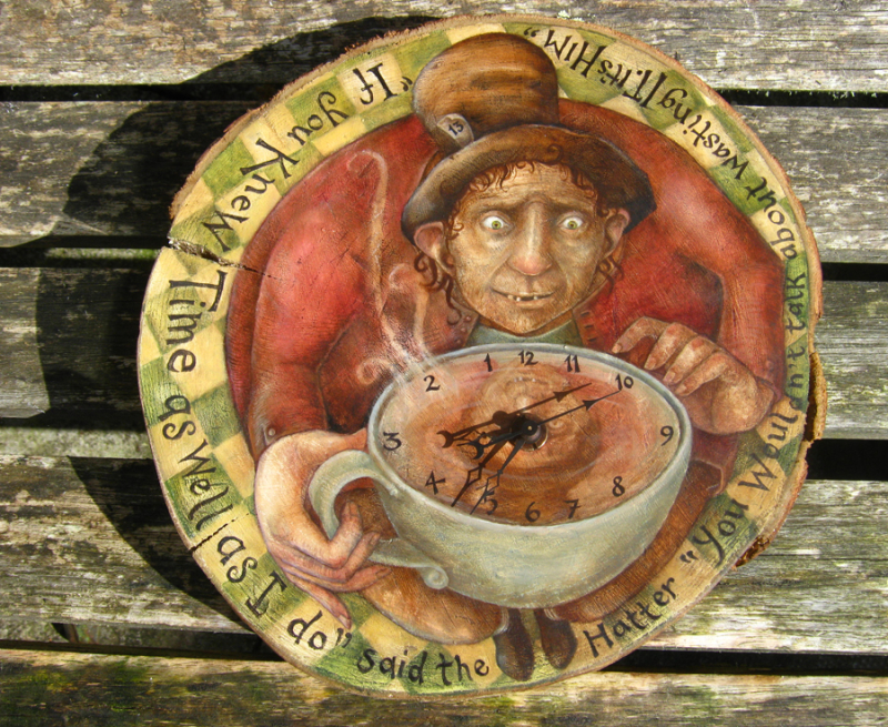 The Mad Hatter Clock