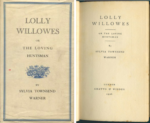 Lolly Willowes, first edition, 1926