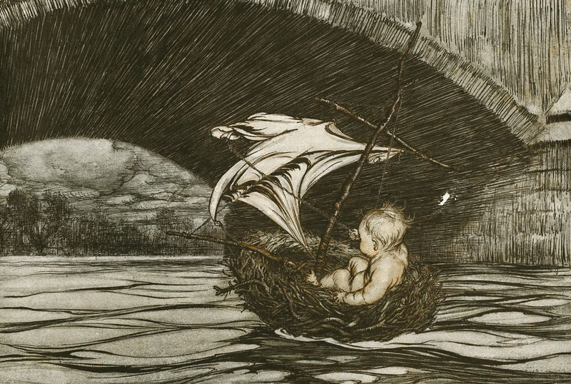 From Peter Pan in Kensington Garden illustrated by Arthur Rackham