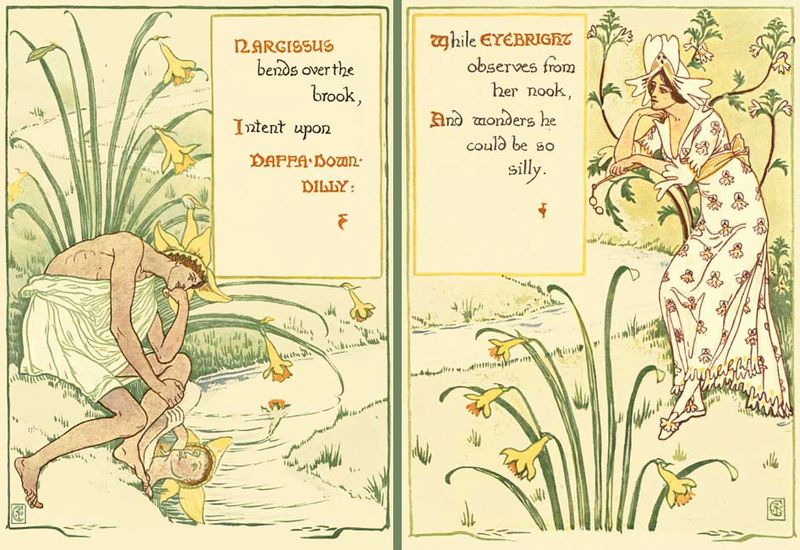 From A Flora Fantasy in an Old English Garden illustraed by Walter Crane