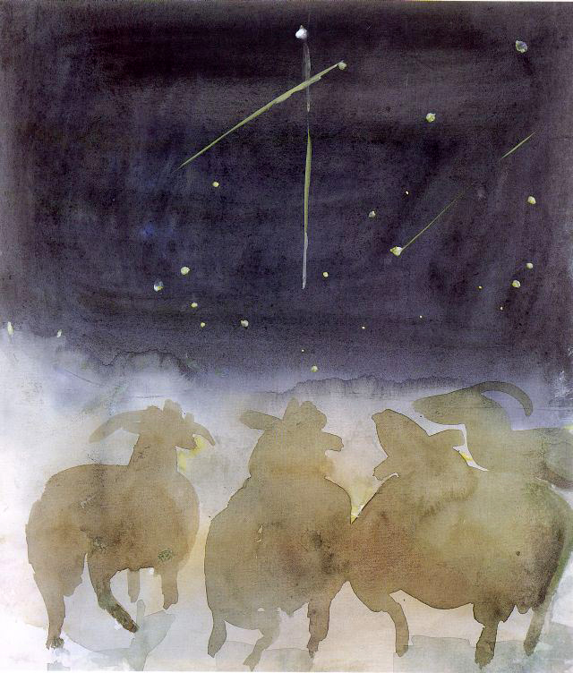 Ewes Watching Shooting Stars by Mary Newcomb