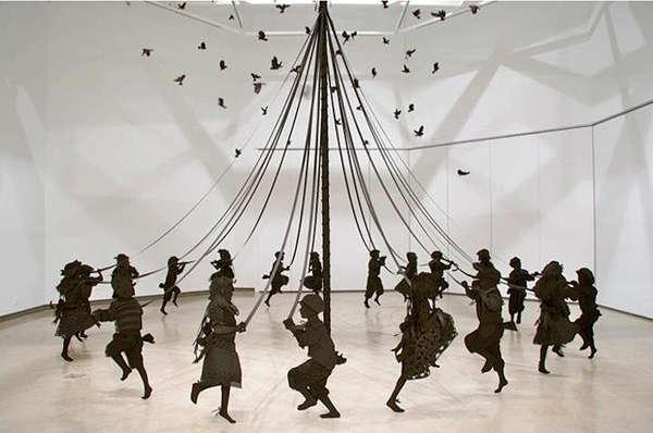 Maypole Dance, an art installation by Kristi Malakoff