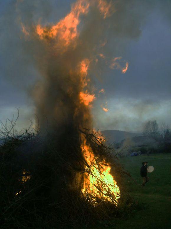 Beltane Bonfire, Chagford, 2012