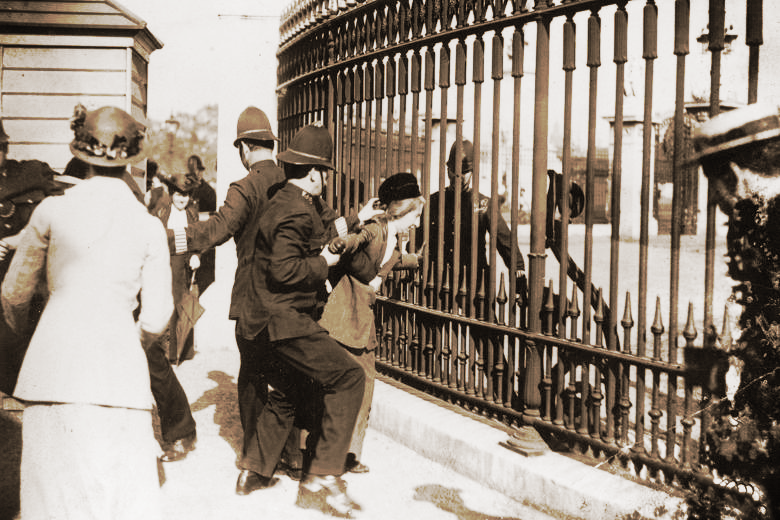 Suffragette arrested