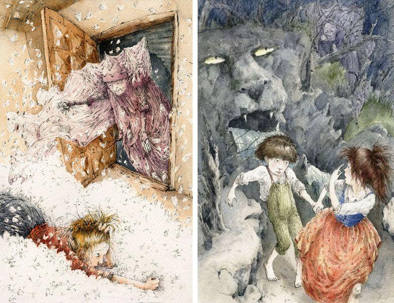 Frau Holle and Hansel & Gretel by Crista Unzner